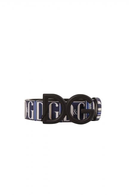 Женский пояс Dolce & Gabbana синий BC4265AA560HBY43