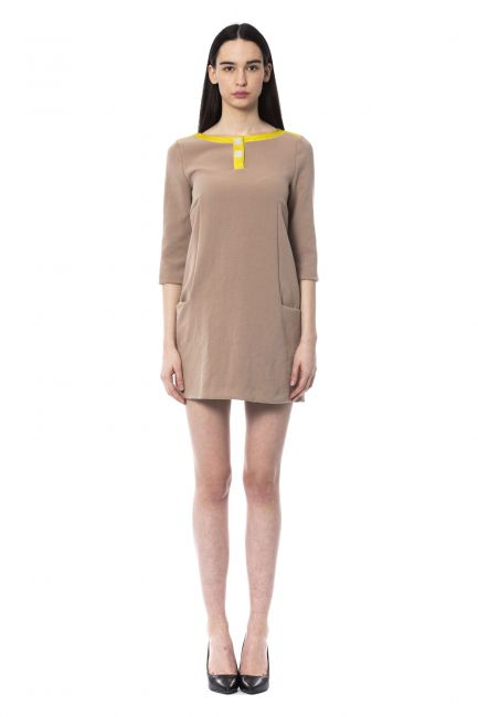 Платье Byblos D2BGB41213387_Q47CREMINOBIS+CITRONELLE