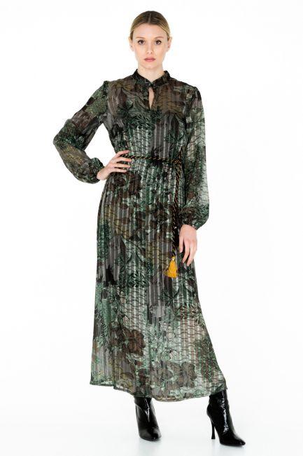 Платье Cristina Gavioli CA0054 verde/nero