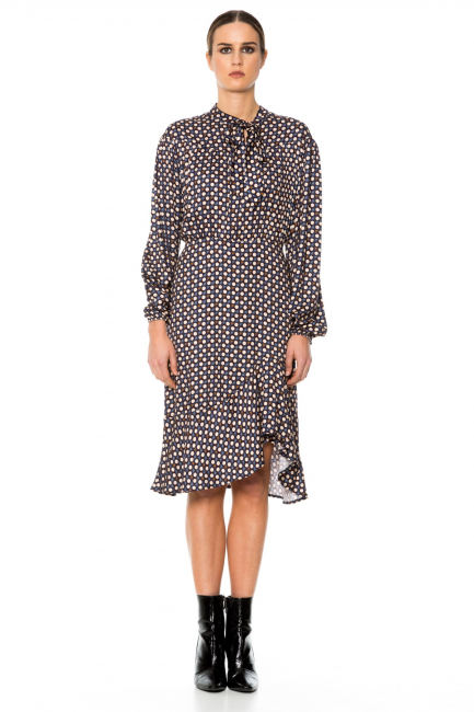 Платье женское Cristina Gavioli CA1072 Avorio/blu
