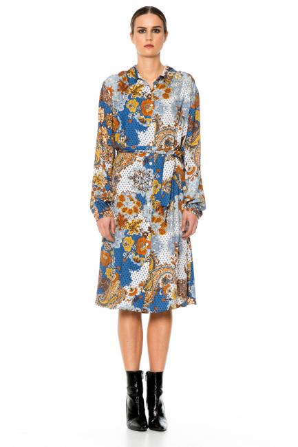 Платье женское Cristina Gavioli CA1082 Ambra/jeans