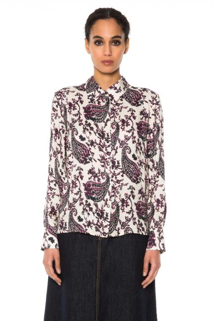 Рубашка женская Cristina Gavioli JA1007 Blu/naturale