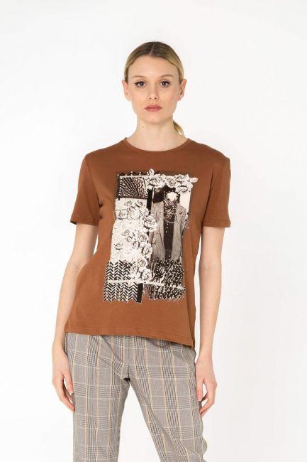 Cristina Gavioli футболка женская JP0085_tabacco