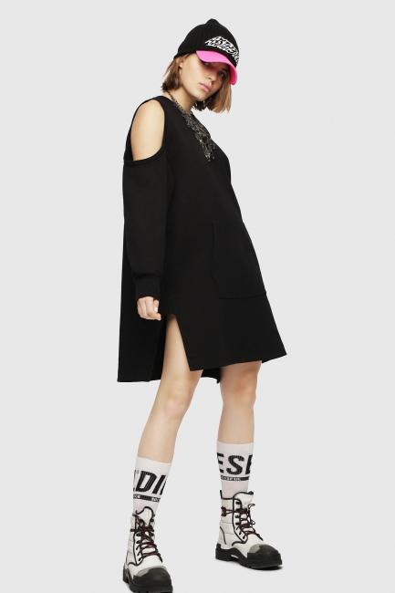 Платье Diesel черный 00SM7D0JASE