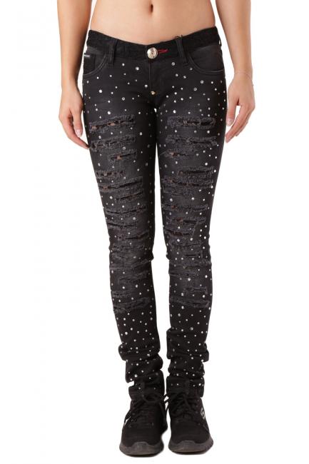 Женские джинсы Philipp Plein черный CD170531