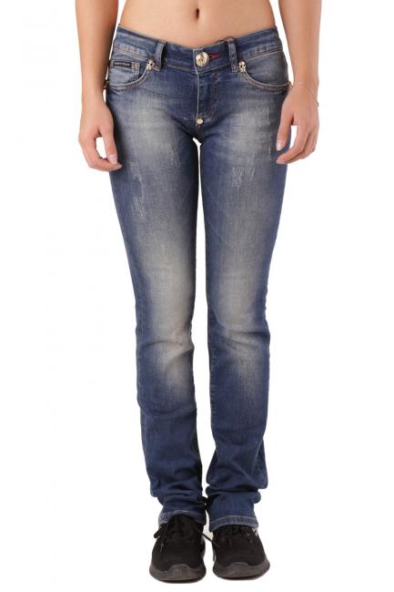 Женские джинсы Philipp Plein синий CW590422