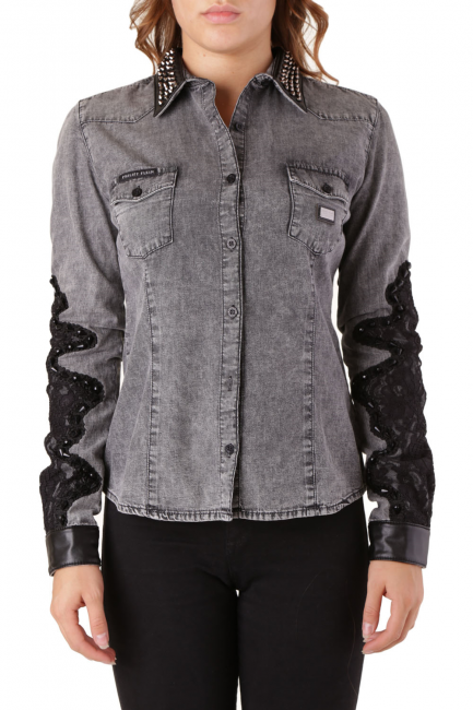 Рубашка женская Philipp Plein Серый CD040519