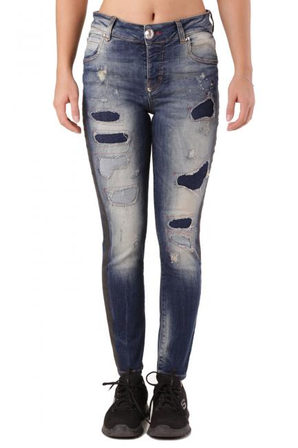Женские джинсы Philipp Plein синий CD154246
