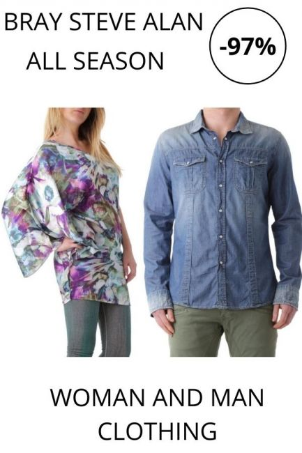 STOCK Bray Steve Alan Clothing woman and man